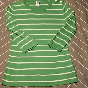 Gap Striped Sweater with Buttons size S